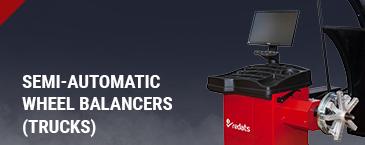 Semi-automatic wheel (truck) balancers